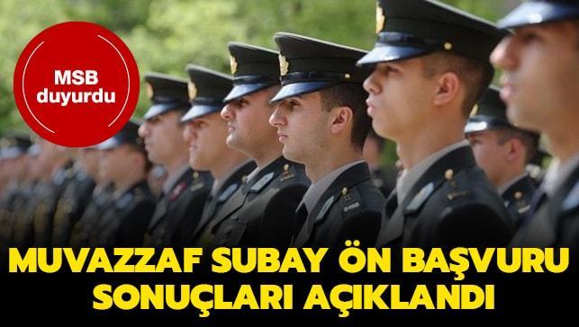 Muvazzaf subay ön başvuru sonuçları açıklandı!