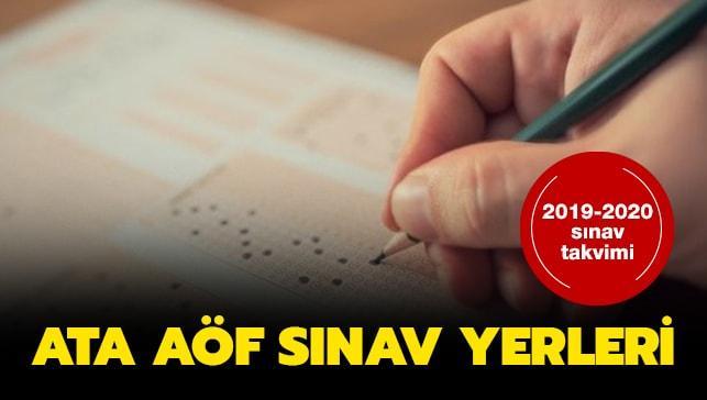 ATA AÖF sınav giriş belgesi yayınlandı!