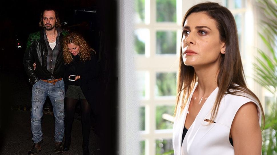 Oyuncu Ebru Özkan'ın eşi Ertan Saban sarışın bir güzelle fena yakalandı!