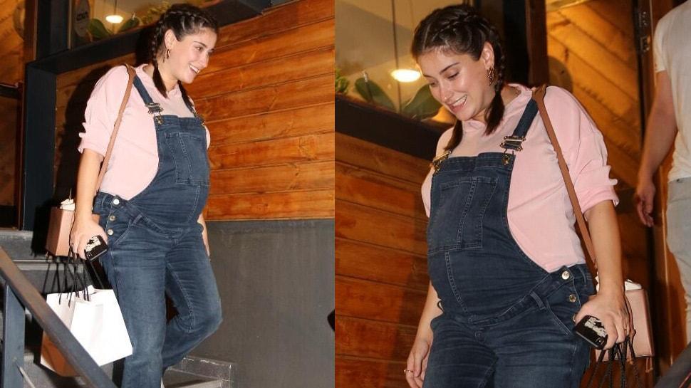 8 aylık hamile oyuncu Hazal Kaya'nın sempatik halleri