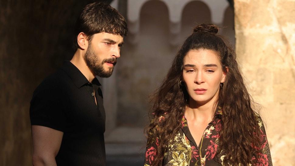 Hercai'nin başrolleri Ebru Şahin ve Akın Akınözü'nün zor anları! 6 saat yağmurda kaldılar