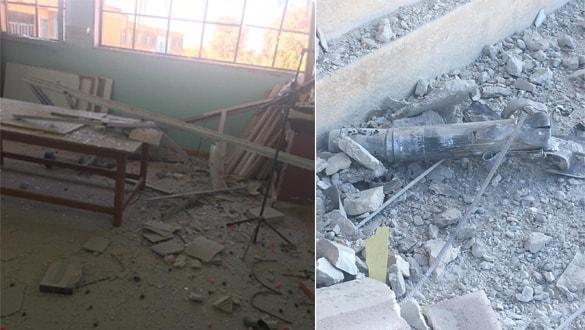 PKK-YPG'li teröristler okulu vurdu