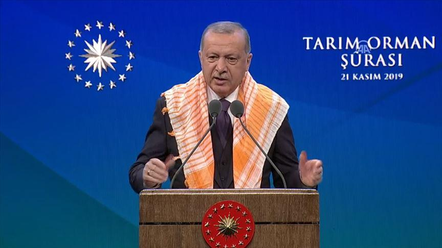 Başkan Erdoğan: 'Türk tarımını küresel şirketlere ezdirmeyeceğiz'
