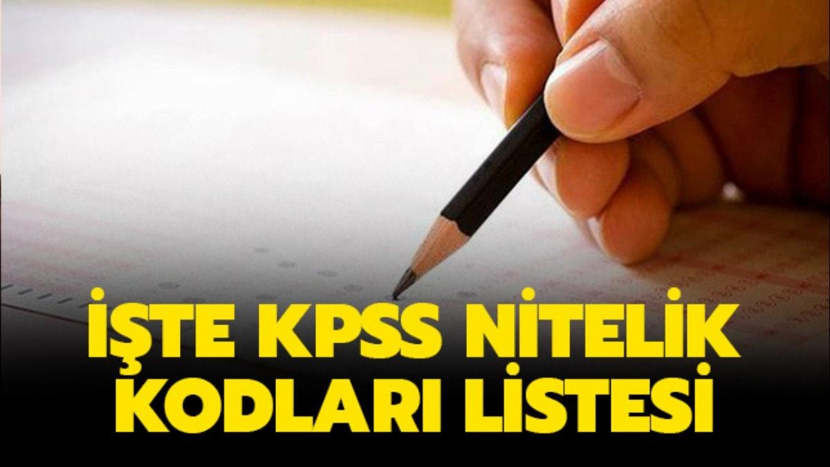 """KPSS nitelik kodları: 7225 nitelik kodu, 1103 nitelik kodu ve 4001 nitelik kodu nedir"""""""
