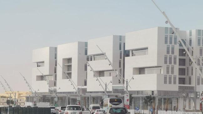Katar, FIFA Dünya Kupası'na özel 2022 şeklinde bina inşa etti
