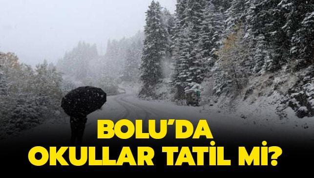"""6 Aralık Bolu'da okullar tatil mi"""" Bolu'da okullar tatil oldu mu"""" Bolu son dakika haberleri"""