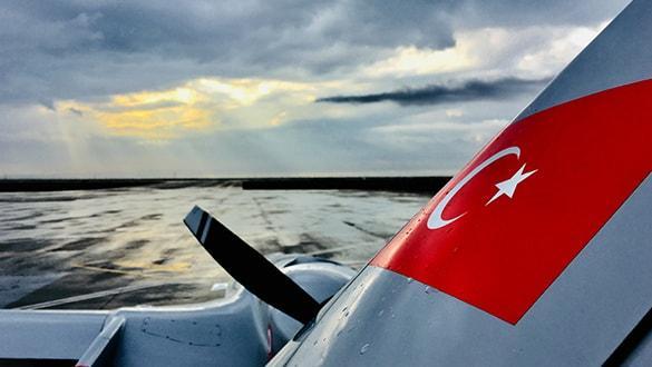 Türkiye'den KKTC Havalimanı'na ilk İHA yola çıktı
