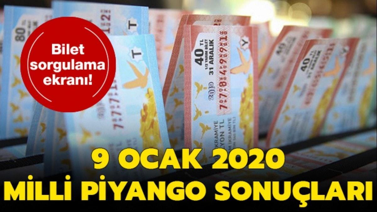 """9 Ocak 2020 Milli Piyango sonuçları açıklandı mı"""" Milli Piyango sonuçları sorgulama sayfası"""