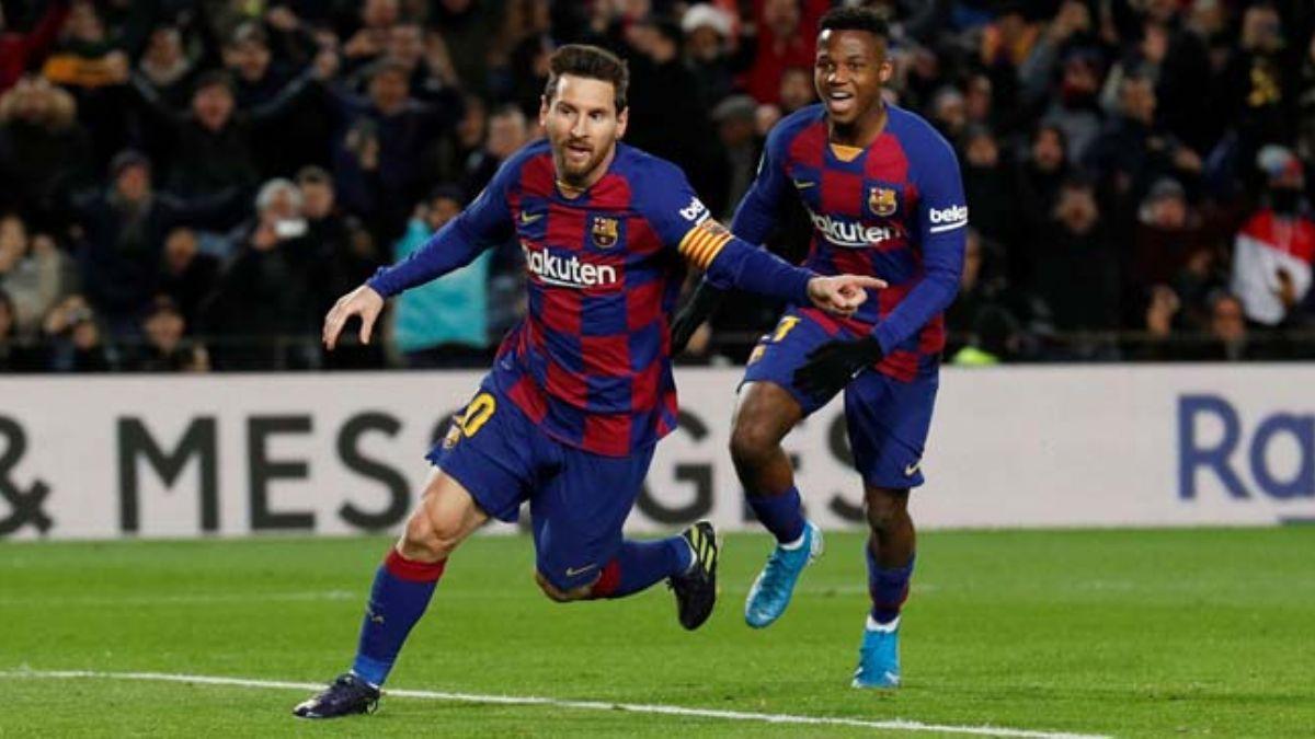 Barcelona zorlandığı maçta Lionel Messi ile güldü