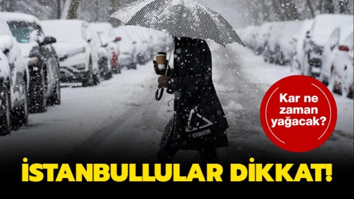 """İstanbul'a bu hafta kar yağacak mı"""" İstanbul'da kar ne zaman yağacak"""" Meteoroloji'den duyuru"""