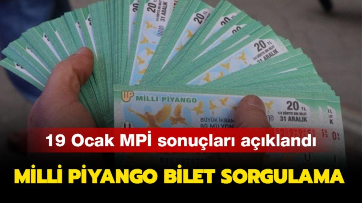 MPİ Milli Piyango bilet sorgulama sayfası: 19 Ocak 2020 Milli Piyango sonuçları açıklandı..