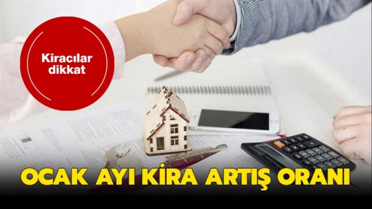 Ocak kira artış oranı TÜİK tarafından açıklandı!