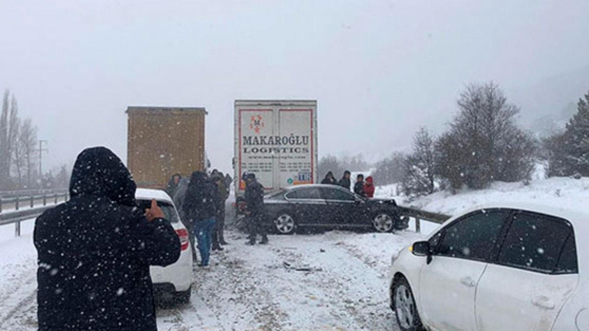 Gerede-Karabük yolu ulaşıma kapandı