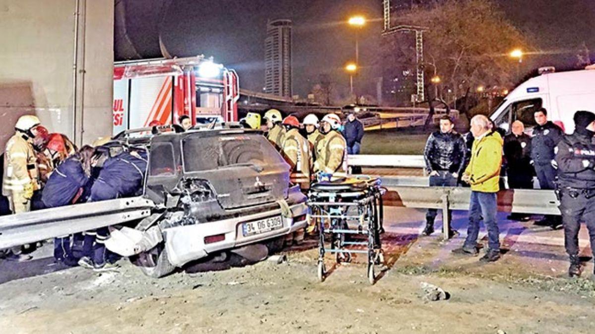 Çocuk sürücü kazayaptı, bacağı koptu