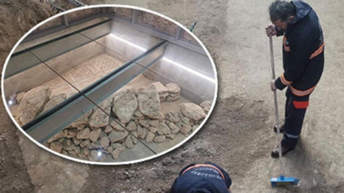 İstanbul'da belediye binasının altından tarih fışkırdı