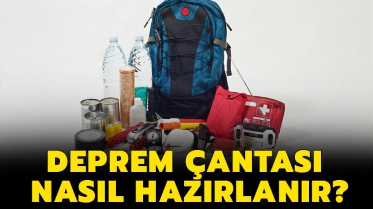 """Deprem çantasında neler, hangi malzemeler olmalı"""" Deprem çantası nasıl hazırlanır"""""""