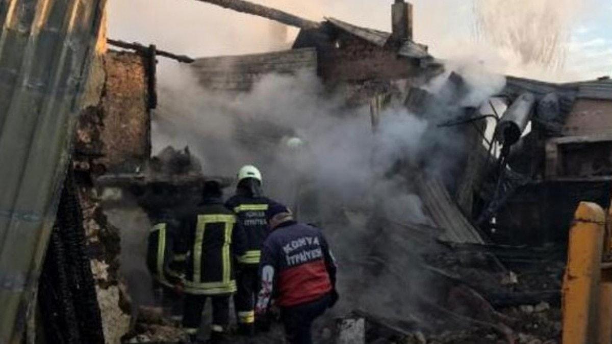 Konya'da yangın faciası! 3 ölü