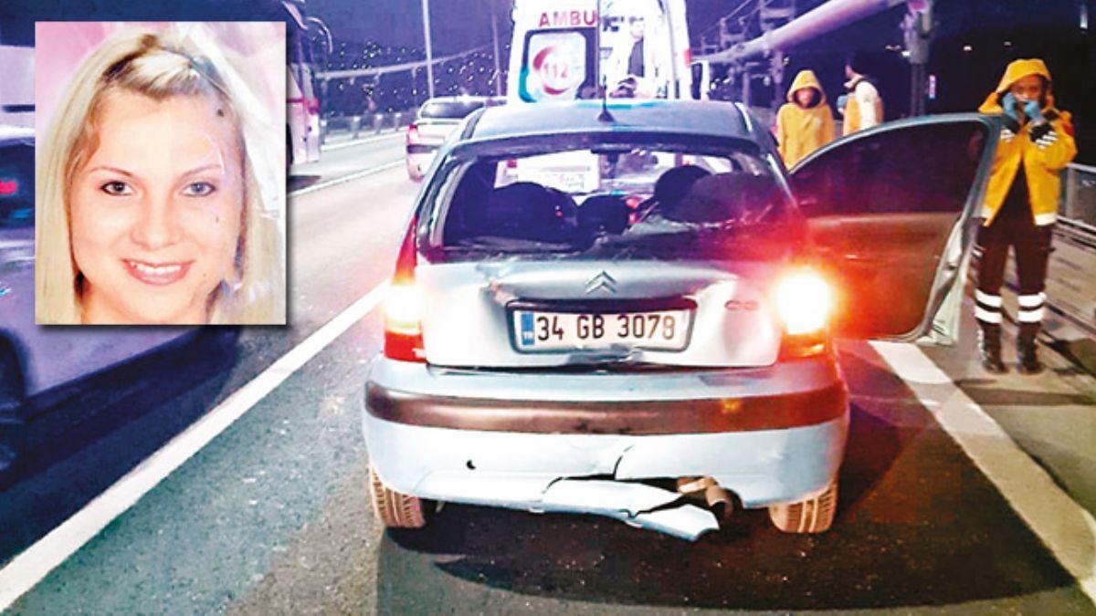 Köprüde çifte dehşet! Kız arkadaşını araçta öldürüp denize atladı