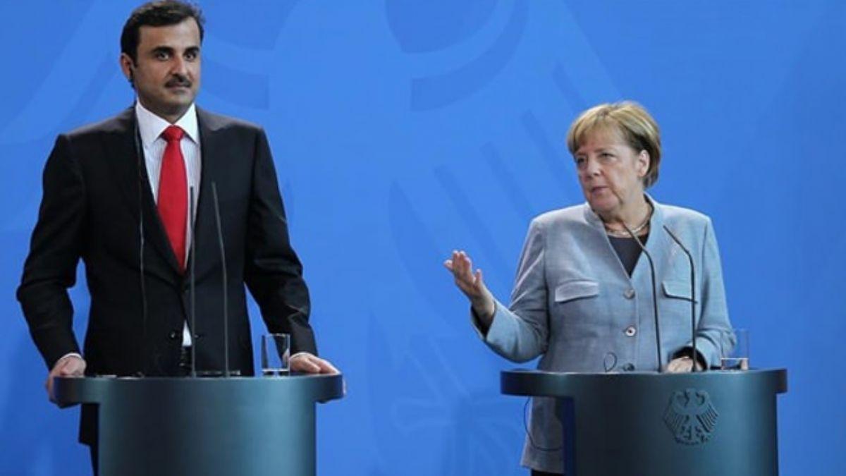 Katar Emiri ile Almanya Başbakanı Libya'daki son gelişmeleri görüştü