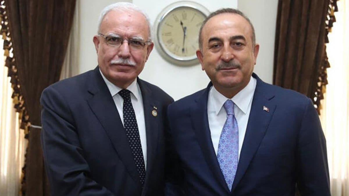 Bakan Çavuşoğlu, Filistinli mevkidaşı ile görüştü