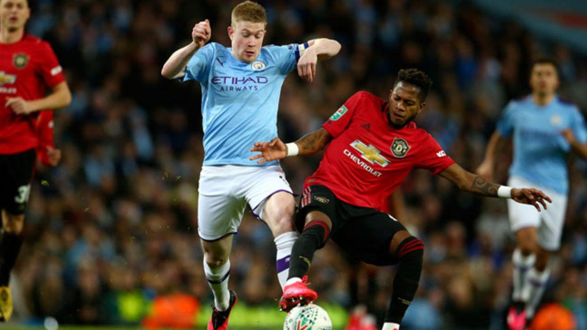 Manchester derbisinde United kazandı, City çeyrek finale yükseldi