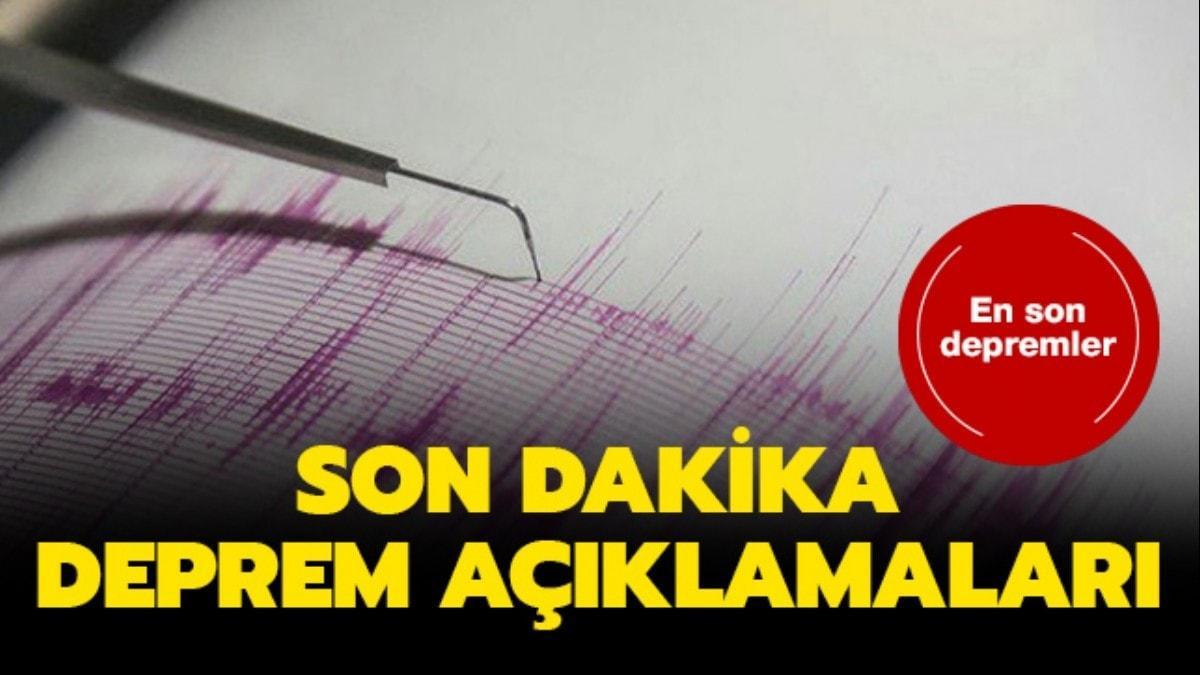 İşte son depremler