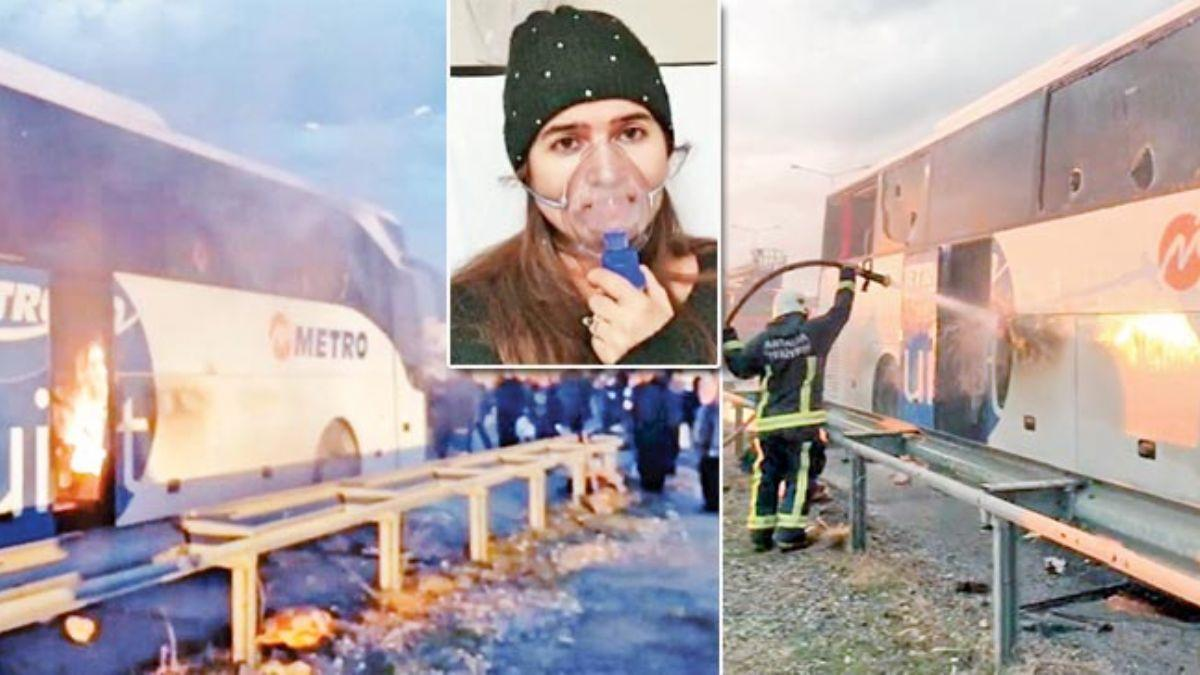 Çay ünitesi yine otobüsü yaktı