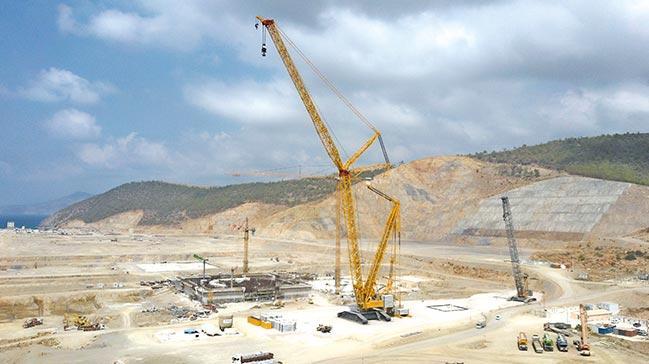 Akkuyu'da inşaat temposu yükseliyor