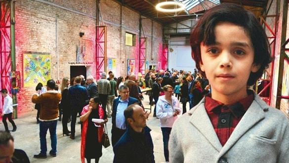 Dünyanın ilgisi Minik Picasso'da! 7 yaşında 12. sergisini açtı