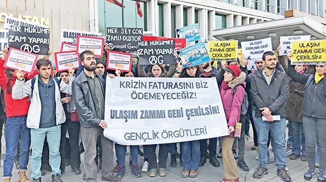 İBB önündezam protestosu