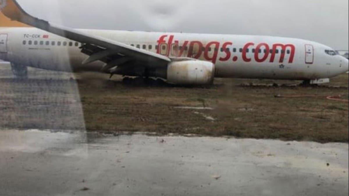 Ulaştırma Bakanlığı'ndan pistten çıkan Pegasus uçağı ile ilgili flaş açıklama!
