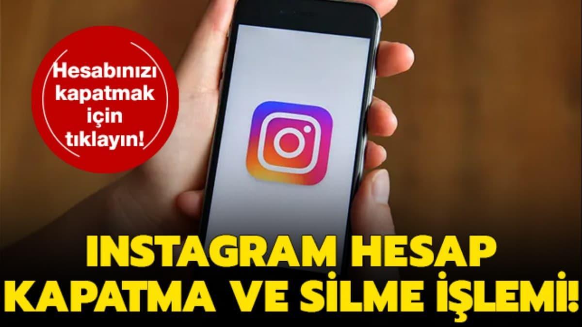 Instagram hesap silme işlemi!