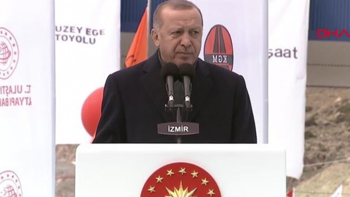 Başkan Erdoğan İzmir'de açılış töreninde konuştu