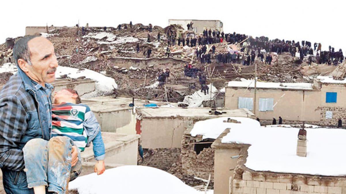 İran'daki depremBaşkale'yi vurdu