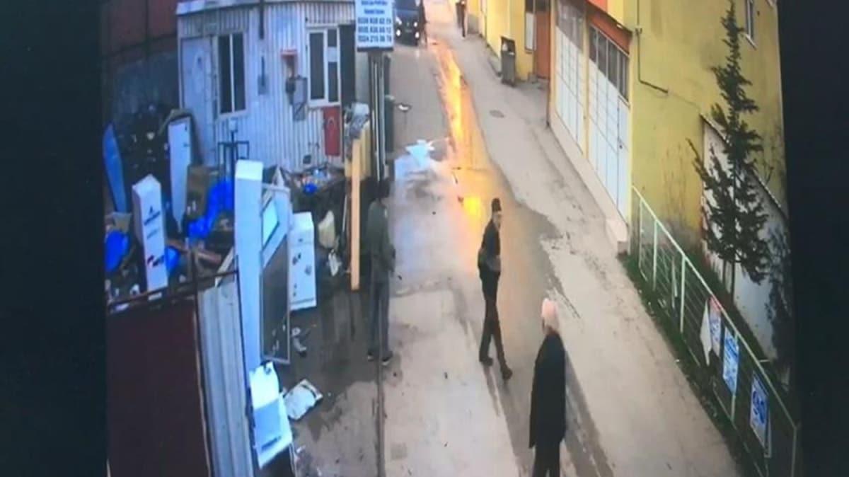 Hurdacıdaki cinayet güvenlik kamerasında