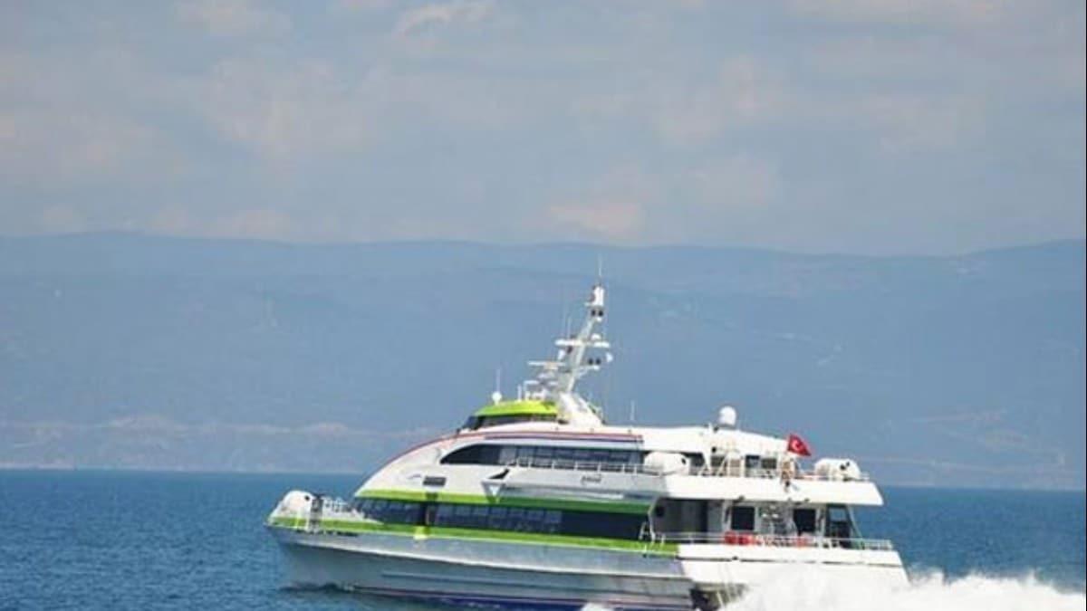 Bursa-İstanbul deniz otobüsünde sefer iptalleri