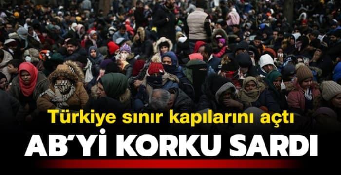Türkiye kapıları açtı, AB'yi göçmen endişesi sardı