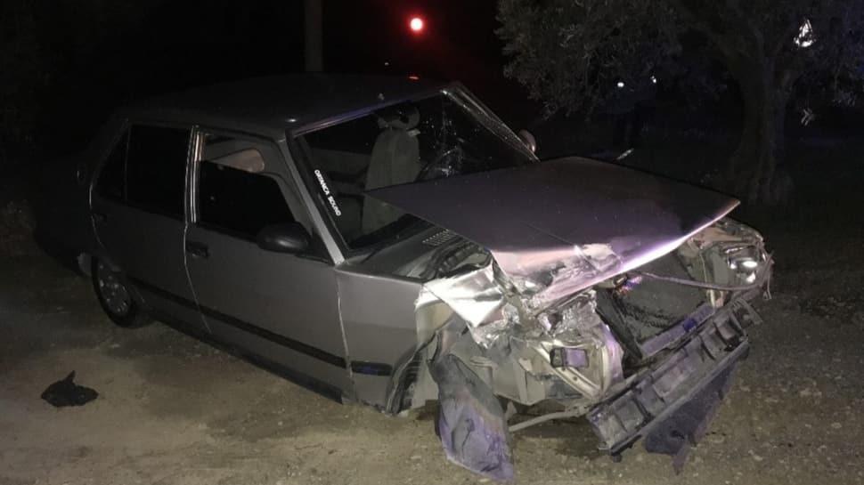 Önce kaza yaptı, sonra aracını tarlaya sakladı