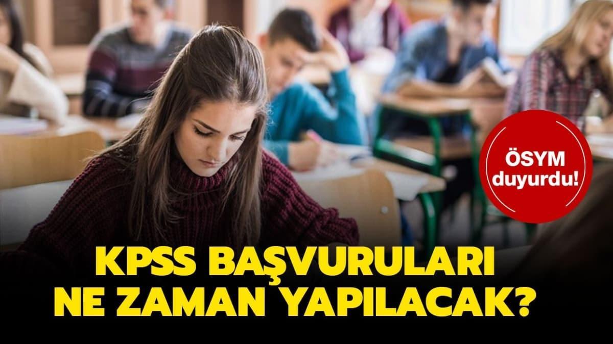 """KPSS başvuru tarihi ve sınav ücreti nedir"""""""