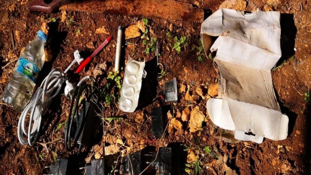 Terör örgütü PKK'ya ait 10 sığınak imha edildi ve 400 kilograma yakın esrar ele geçirildi
