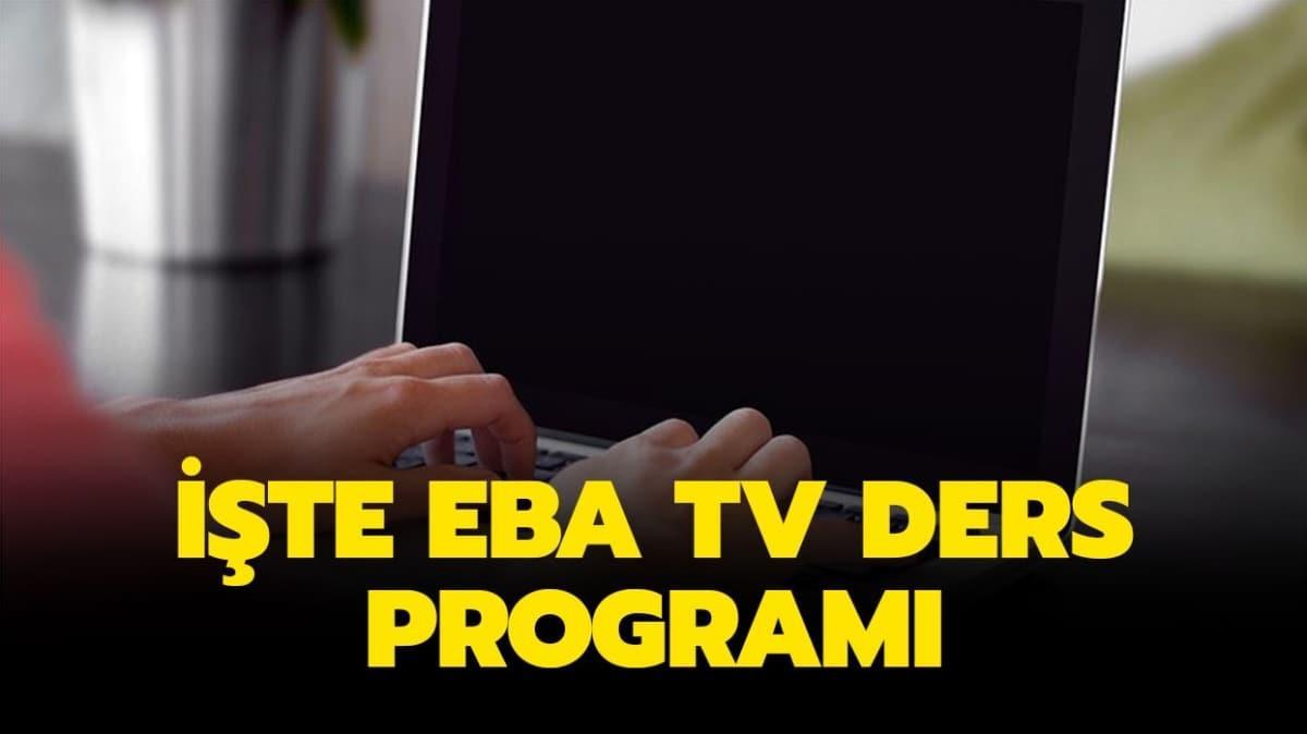 EBA TV ders programı ve saatleri yayınlandı!