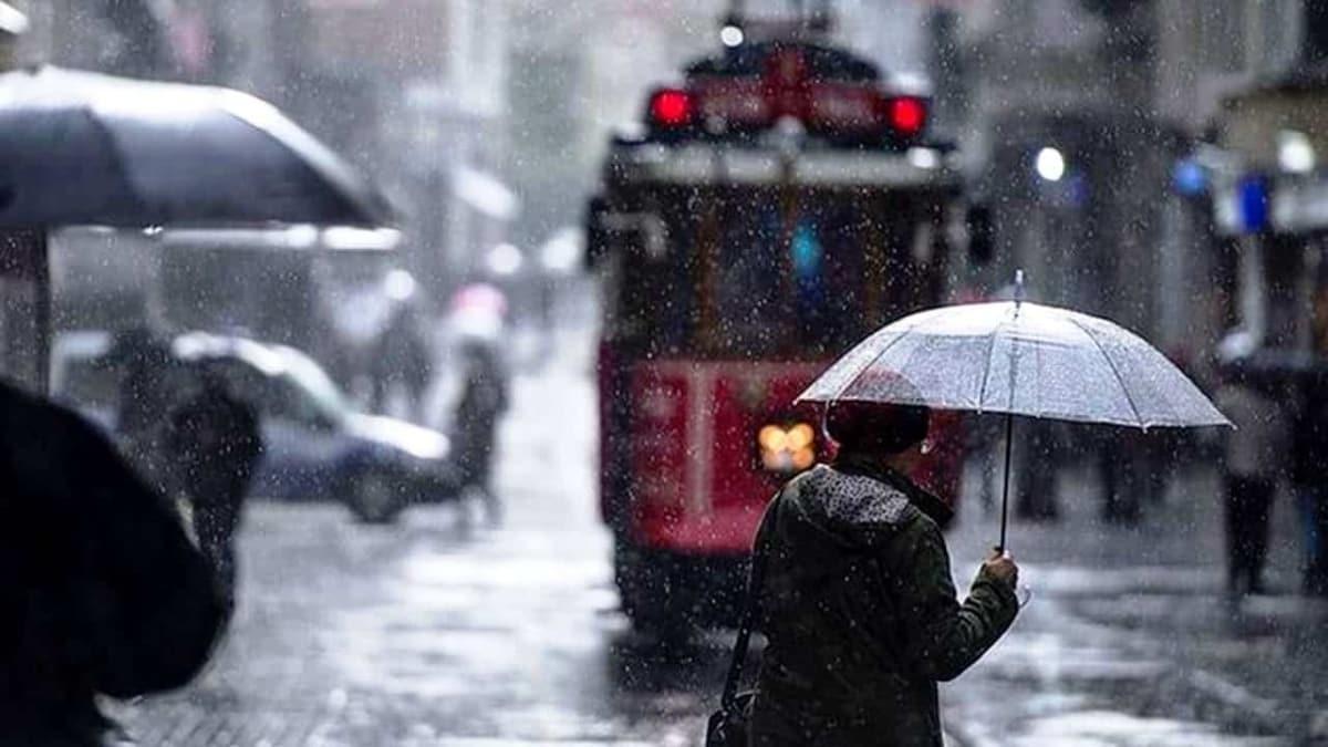 Meteoroloji'den yağmur raporu! İstanbul ve birçok ilde sağanak bekleniyor