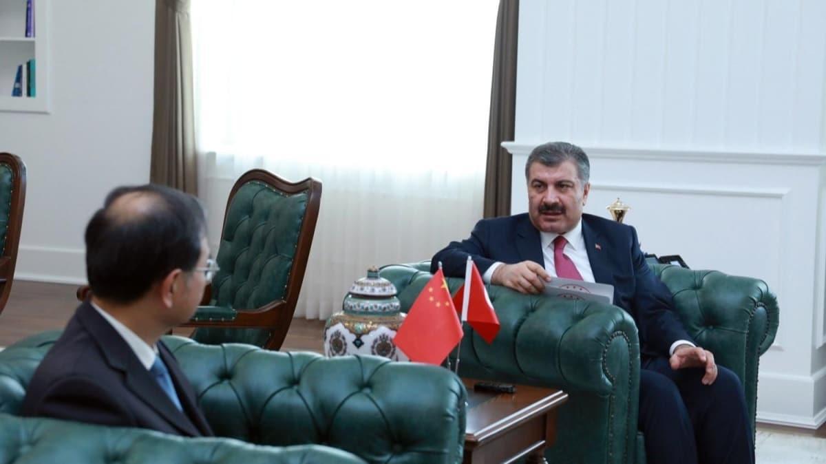 Bakan Koca, Çin Ankara Büyükelçisi Deng Li ile görüştü