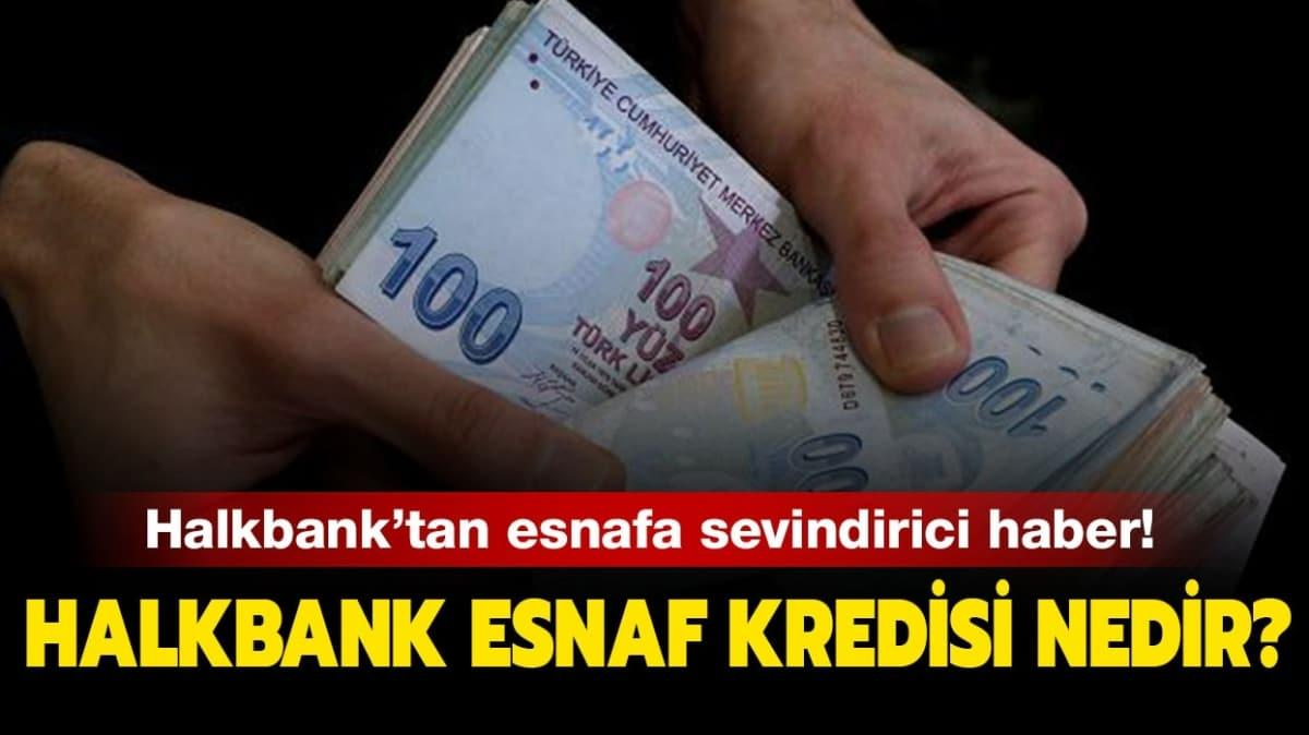 "Halbank esnaf kredisi nedir"""