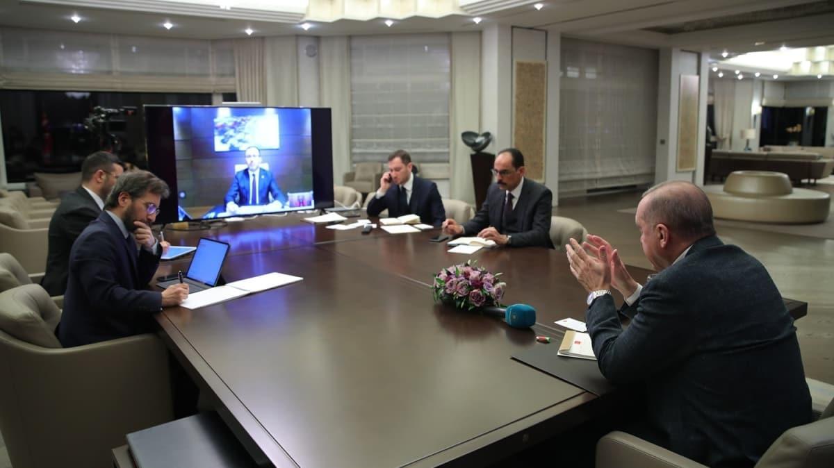 Başkan Erdoğan Kabine üyeleriyle video konferansla görüştü