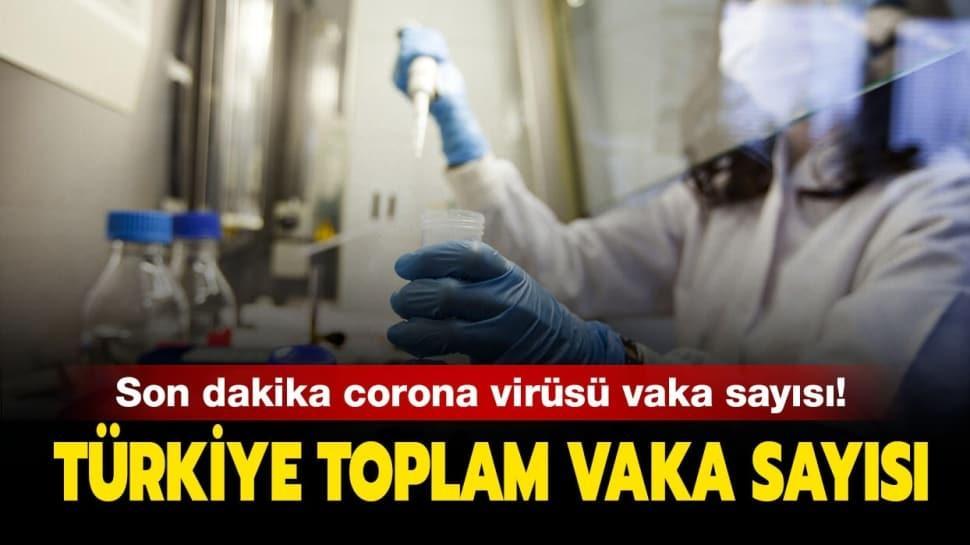 Türkiye koronavirüs vaka sayısı kaç oldu?