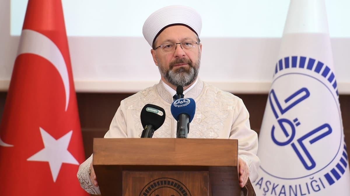 Diyanet İşleri Başkanı Erbaş, koronavirüse yakalananların şifa bulması için dua edecek
