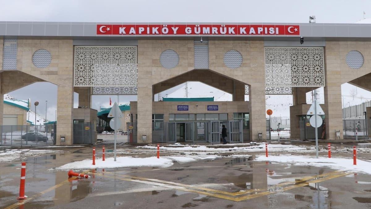 Kapıköy Kara Hudut Kapısında giriş çıkışlar durduruldu