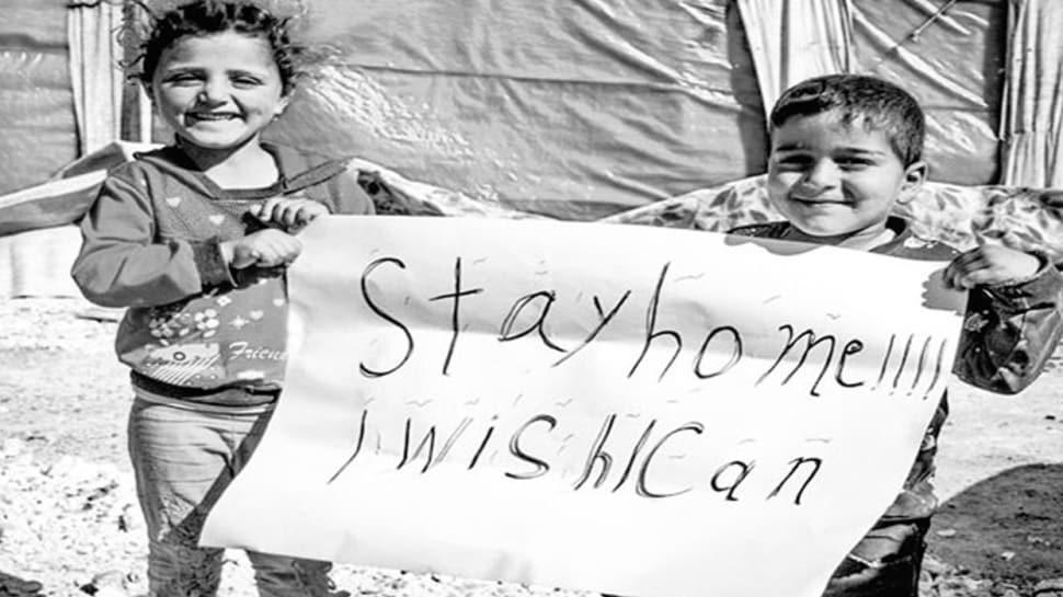 İdlibli çocuklardan dünyaya koronavirüs yanıtı
