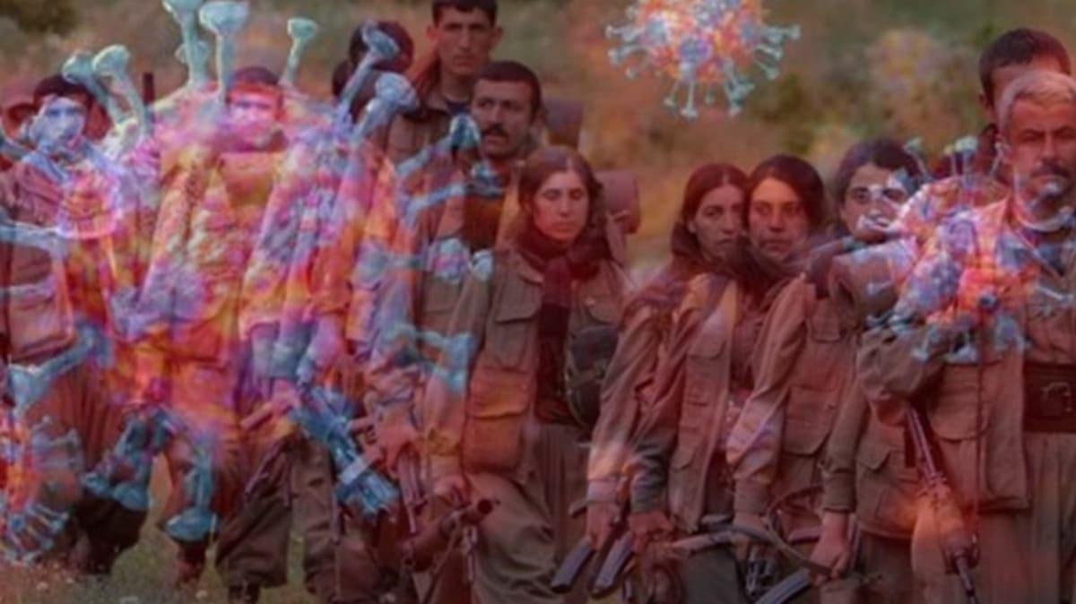 Terör örgütü PKK'da koronavirüs paniği! Teröristlerin kan donduran çözümü
